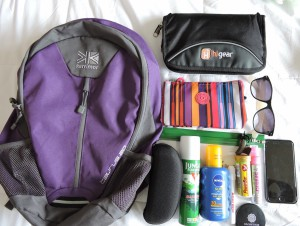 Everything that I will be taking in my daypack