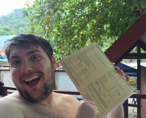Andrew's happy face -  certified Open Water Diver