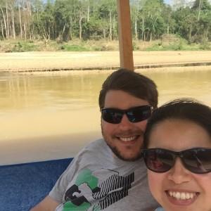 Boat ride to Kuala Tembeling jetty  - we saw wild boars and water buffalos!
