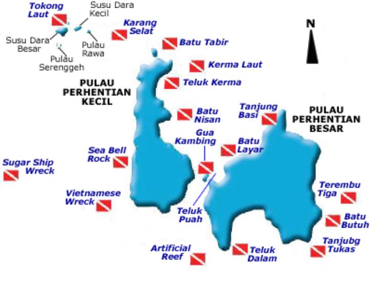 Dive Sites at Perhentian Islands