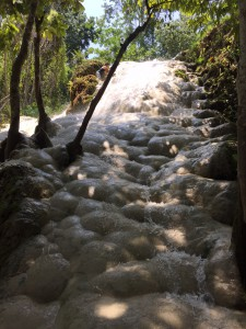 Getting across the waterfall slowly